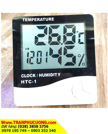 Clock/Temperature/Humidity HTC-1; Nhiệt ẩm kế môi trường Clock/Temperature/Humidity HTC-1 | Bảo hành 1 tháng