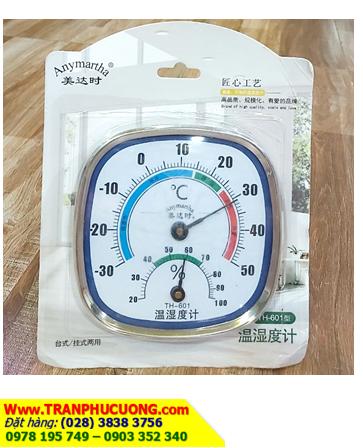 Nhiệt Ẩm kế TH-601; Nhiệt ẩm kế chạy cơ Nhiệt Ẩm kế TH-601 với dải đo 0 - 50độ C | bảo hành 1 tháng
